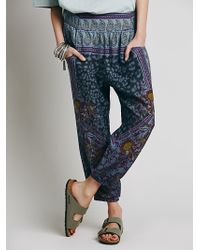 Free People Womens All In Place Smocked Pant - Lyst