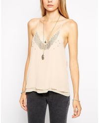 Zadig & Voltaire Zadig and Voltaire Cami with Beaded Detail - Lyst