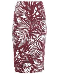 Elizabeth And James Aisling Palm-Print Pencil Skirt - Lyst