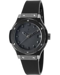 Hublot - Women's Ltd Ed. Classic Fusion Black Rubber And Dial - Lyst
