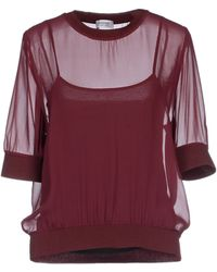 Sonia by Sonia Rykiel Blouse red - Lyst