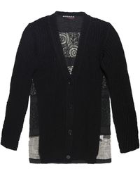 Rochas Lace-Panel Cotton Cardigan - Lyst