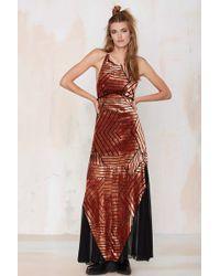 Line & Dot | Line & Dot Ziggy Burnout Velvet Maxi Dress | Lyst
