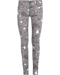 Marc By Marc Jacobs Gaia Grey Sequin Print Skinny Jeans - Lyst