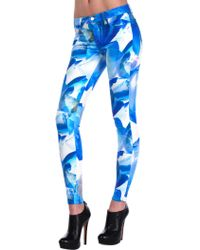 J Brand Super Skinny In Blue Orchid blue - Lyst
