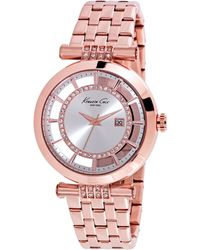Kenneth Cole Women'S Rose Gold Ion-Plated Stainless Steel Bracelet Watch 36Mm 10021106 - Lyst