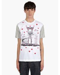 Comme Des Garçons X Nicholas Buffe Opera Print Cotton Tshirt - Lyst