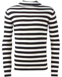 Saint Laurent | Striped Roll Neck Sweater | Lyst
