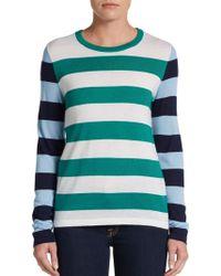 Equipment Violet Striped Cashmere  Silk Pullover - Lyst