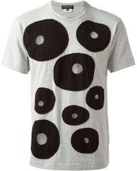 Comme Des Garçons Hole Details T-shirt - Lyst