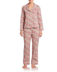 Liberty Long Floral Pajamas multicolor - Lyst