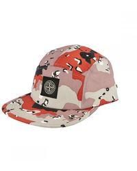 Stone Island Camo Pink Cap