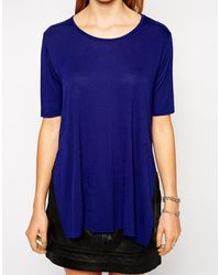 Cheap Monday Tshirt with Side Split - Lyst