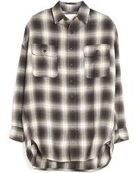 R13 Extra Oversized Plaid Shirt black - Lyst