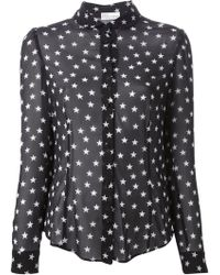 RED Valentino Star Print Blouse - Lyst