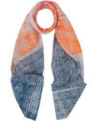Simeon Farrar - Multicolour Dot Silk And Cotton-Blend Scarf - Lyst