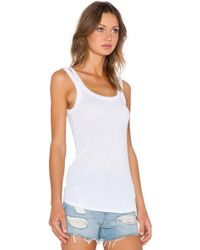 Stateside Ribbed Double Strap Tank white - Lyst
