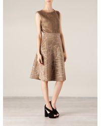 Maison Ullens - Cracked Skirt Dress - Lyst