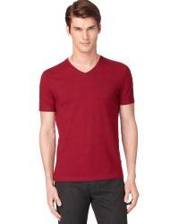 Calvin Klein Vneck Slimfit Tshirt - Lyst
