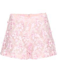 Giamba - Floral Appliqué Shorts - Lyst