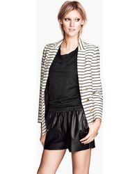 H&M Imitation Leather Shorts - Lyst