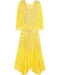 Preen By Thornton Bregazzi Norma Floraldevoré Chiffon Dress - Lyst