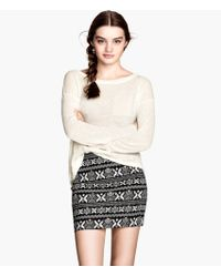 H&M Twill Skirt - Lyst