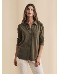 Faherty Brand Knit Seasons Shirt - Green