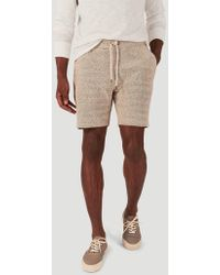 Faherty Brand Knit Sweatshort - Natural