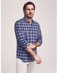 Faherty Brand Cloud Summer Blend Shirt - Blue