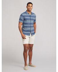 Faherty Brand The Short-sleeve Breeze Shirt - Blue