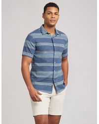 Faherty Brand The Short-sleeve Breeze Shirt - Blue