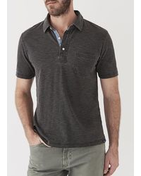 Faherty Brand Indigo Polo - Black