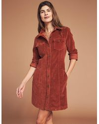 Faherty Brand Malone Shirtdress - Red