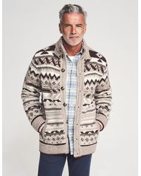 Faherty Brand Winter Plains Full Button Cardigan - Multicolour