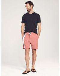 Faherty Brand Toro Stripe Boardshort - Red