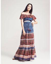 Faherty Brand Alanis Skirt - Blue