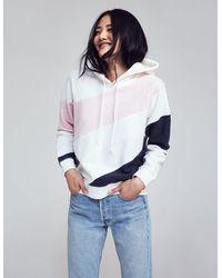 Faherty Brand Ripple Color Blocked Fleece Hoodie - Multicolor