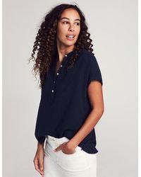 Faherty Brand Organic Cotton Double Gauze Shirt - Blue