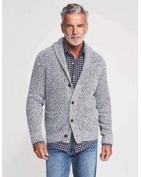 Faherty Brand Marled Cotton Cardigan - Gray