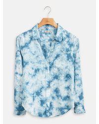 Faherty Brand Malibu Tie Dye Shirt - Blue