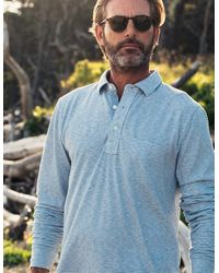 Faherty Brand Long-sleeve Polo - Blue