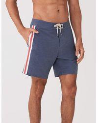Faherty Brand Retro Surf Stripe Boardshort - Blue