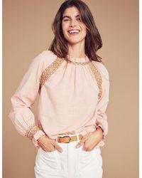 Faherty Brand Arles Blouse - Pink