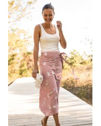 Faherty Brand Allegra Wrap Skirt - Pink