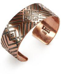 Faherty Brand Large Copper Cuff - Multicolour