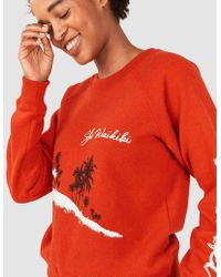 Faherty Brand Ski Hawaii Crewneck - Red