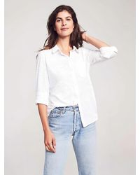 Faherty Brand Knit Seasons Shirt - White
