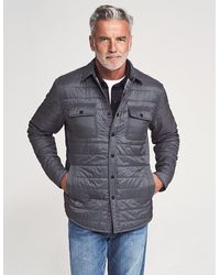 Faherty Brand Atmosphere Packable Shirt Jacket - Grey