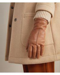 Falconeri Handschuhe aus Leder und Kaschmir - Braun